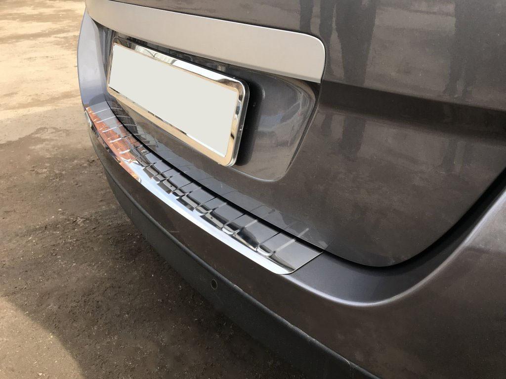 Накладка на задний бампер Carmos (Grand, нерж.) Renault Scenic/Grand 2009-2016 гг. / Накладки на задний бампер
