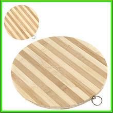 Дошка бамбукова кругла D27см товщина 1,4 см