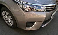 Накладки на противотуманки (2013-2016, нерж.) Toyota Corolla 2013-2019 гг. / Накладки на противотуманки Тойота
