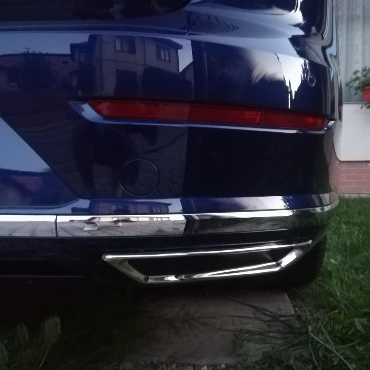 Volkswagen Arteon Накладки на задний бампер ниже катафотов из нержавейки S-Designs / Накладки на задний бампер