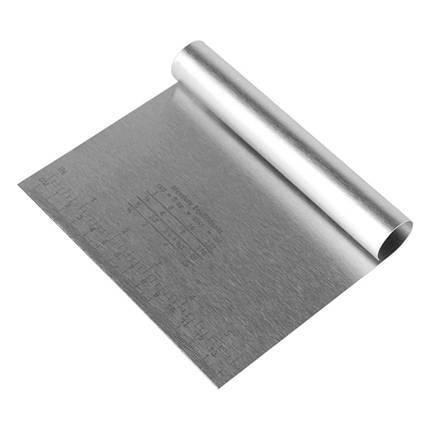 Шпатель кондитерський металевий з розміткою L 15 см висота 12 см, фото 2