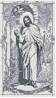 """Набір алмазної мозаїки 40х70 """"Ісус стукає в двері сепія"""" SS812"""