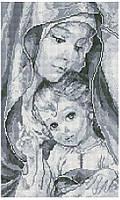 """Набір алмазної мозаїки 30х50 """"Богородиця з Ісусом сіра""""  TP901"""