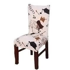Чехол на стул натяжной Stenson R26293 45х40~65х50 см Beige