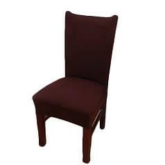Чехол на стул натяжной Stenson R26287 45х40~65х50 см Brown