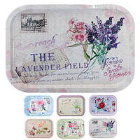 """Поднос металлические """"Lavender"""" 40*28.5*2см N01865"""