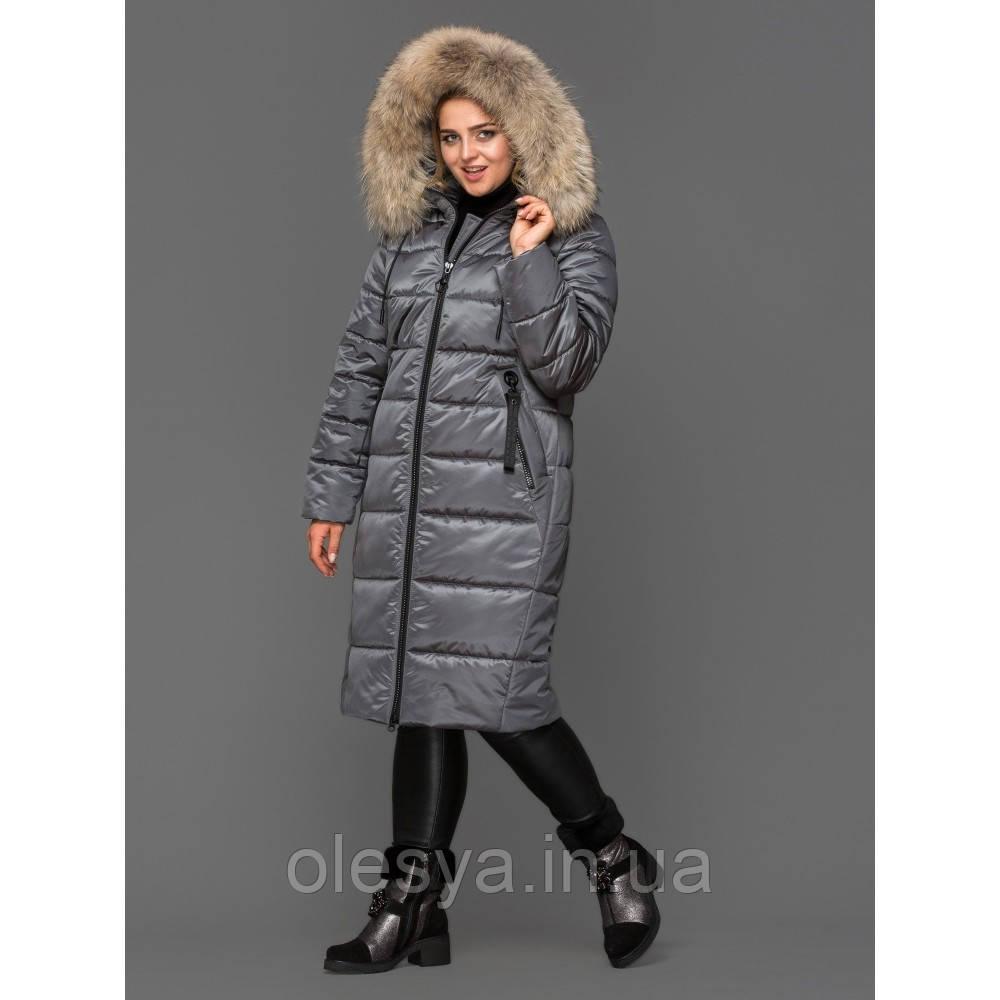 Пуховик, куртка женская зимняя удлиненная 155 тм Mangelo Размеры 46- 56