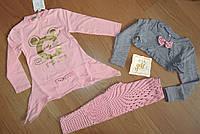 Теплый стильный комплект девочке, размеры 98 ( 2шт) и 104 (2шт) , с мышкой