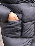 Стильний пуховик пальто FineBabyCat 186-grey, фото 6