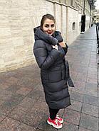 Стильний пуховик пальто FineBabyCat 186-grey, фото 5