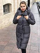 Стильний пуховик пальто FineBabyCat 186-grey, фото 3