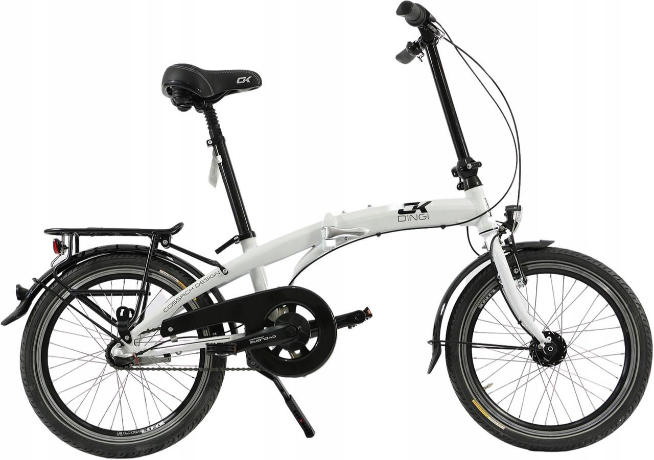 Складний алюмінієвий велосипед Cossack 20 white Польща