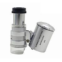 Микроскоп 60х, лупа с подсветкой 2001-00602