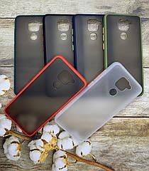 Чехол Xiaomi Redmi Note 9 противоударный бампер/ цветная окантовка/ черный/ синий/ белый/ красный/ хаки