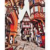 """Картина по номерам. Городской пейзаж """"Яркие улицы Германии"""" 40*50см KHO3539"""