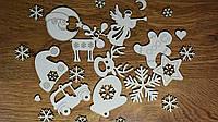 Новорічний декор для скрапбукінгу Набір з 30-ти штук Новогодний декор для скрапбукинга опт