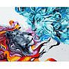 "Картина по номерам. Rainbow Art ""Лёд и пламя"" GX32435-RA"