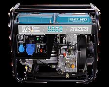 Генератор на дизельном топливе Konner&Sohnen KS 8102HDE (6,5 кВт, 220В, ел. запуск)