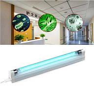 Бактерицидная лампа кварцевая (без озона) DeLux 15w + светильник до 30 кв.м. Переносной
