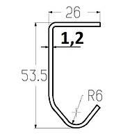 Профиль направляющий PRG04S направляющие для гаражных ворот ролет Alutech, фото 1