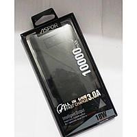 Портативная зарядка для техники Aspor -Q388 черный, с дисплеем, 10000mAh, Qualcomm, 2.4A/3A, повер банк, фото 1