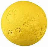 Игрушка для собак Trixie Мяч с пищалкой, резина (цвета в ассортименте), фото 5