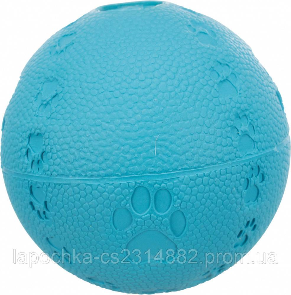 Игрушка для собак Trixie Мяч с пищалкой, резина (цвета в ассортименте)