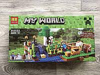Конструктор Minecraft bela Майнкрафт Ферма, Огород, 262 деталей, 4 фигурки, 35х19х6 см