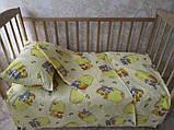 Комплект дитячої постільної білизни, бязь кольорова  100х145 см, фото 3