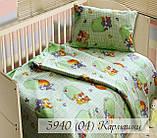 Комплект дитячої постільної білизни, бязь кольорова  100х145 см, фото 4