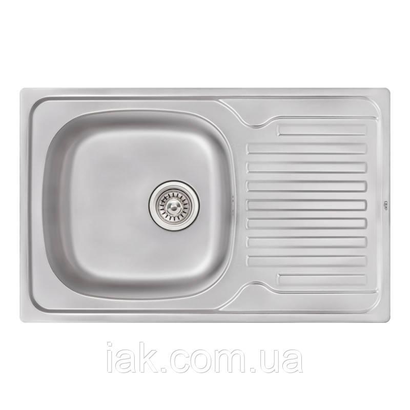 Кухонная мойка Qtap 7850 Satin 0,8 мм (QT7850SAT08)