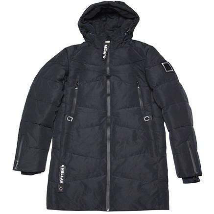 Зимняя молодежная мужская куртка ZPJV  46 размер черная, фото 2