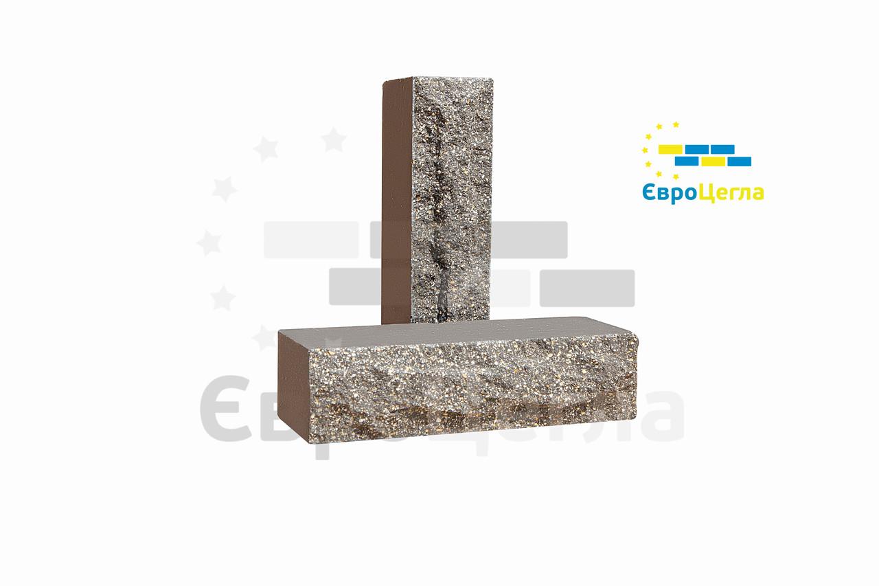 Облицювальна цегла коричневий скеля 250*90*65мм
