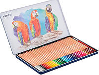 Карандаши акварельные цветные в металлическом пенале Kite 36 цв. (K18-1054), фото 1