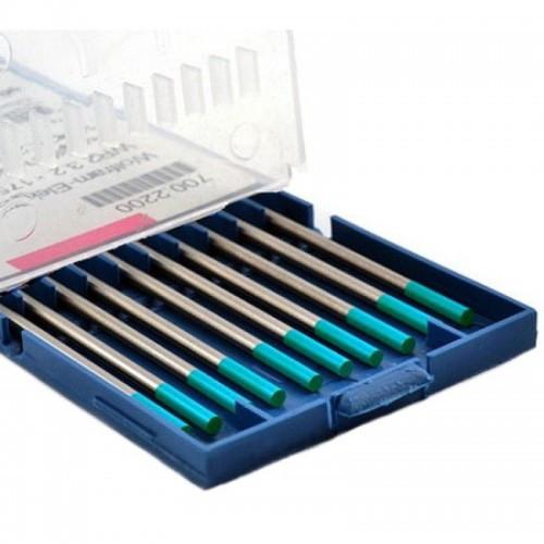 Вольфрамовые электроды WR 2 - бирюзовые Binzel (с оксидом лантана) WE - D 1,6 / 175 мм