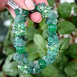 Браслет авантюрин зеленый, фото 3