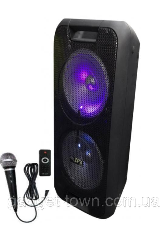 Колонка-чемодан ZPX c микрофоном (USB/Bluetooth/FM/LED/TWS) 150W