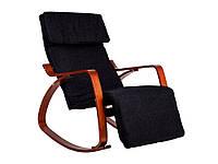 Кресло качалка Крісло качалка дерево GoodHome Walnut 02, фото 1