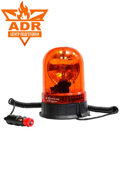 Универсальный проблесковый маячок оранжевого цвета на 24 и 12 В