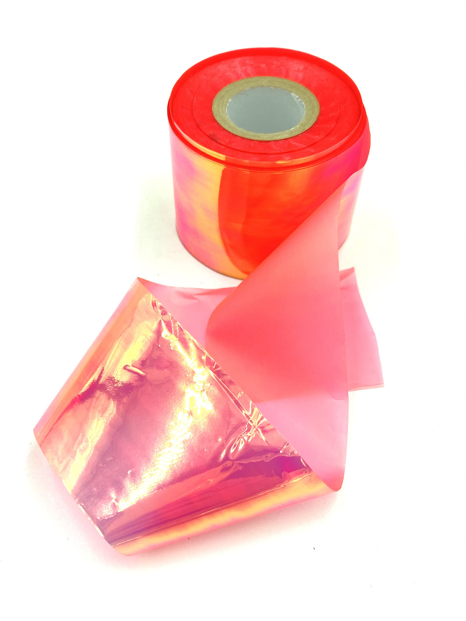 Фольга «битое стекло», цвет коралл   , 1 м