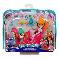 """Игровой набор Enchantimals """"Рождественские сани"""" Mattel GJX31, фото 1"""