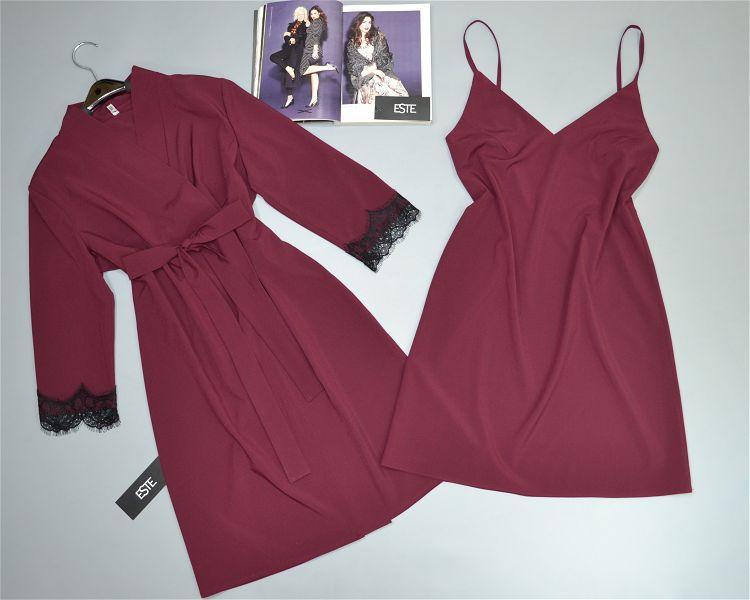 Комплект домашней женской одежды халат и пеньюар.