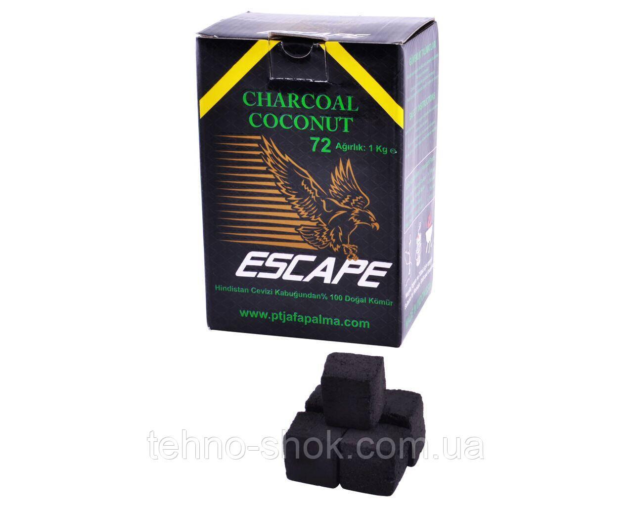 Уголь для кальяна кокосовый COCO-1 Escape 1кг (72 кубика)