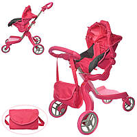 Детская коляска для кукол и пупсов 9631 Melogo, розовая