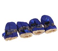 РОЗПРОДАЖ! Черевики для собак утеплені сині