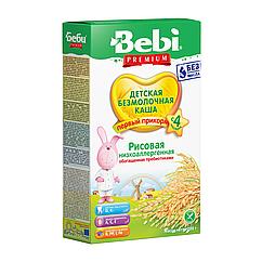 Безмолочна каша Bebi Premium Рисова низькоалергенна, 4+, 200г
