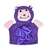 Детская мочалка рукавичка для купания малыша (фиолетовая)