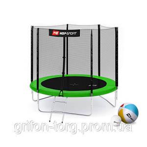 Батут Hop-Sport 8ft (244cm) green з зовнішньою сіткою