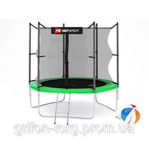 Батут Hop-Sport 8ft (244cm) green з внутрішньою сіткою
