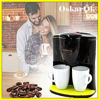 Профессиональная капельная кофеварка для дома Crownberg CB-1560 на две чашки